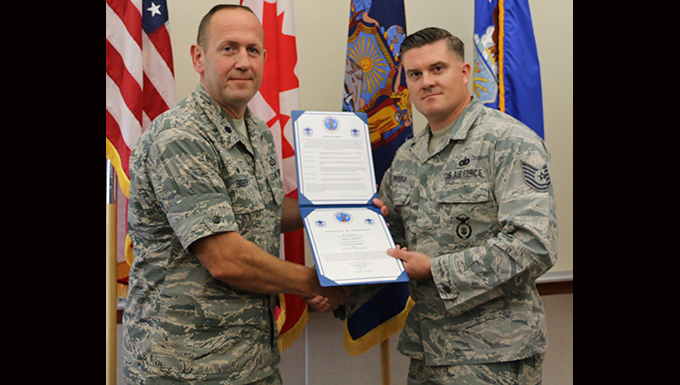 Redden Promoted to Master Sgt